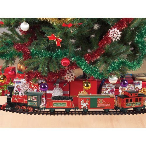 santas north pole express christmas train 27 piece train set